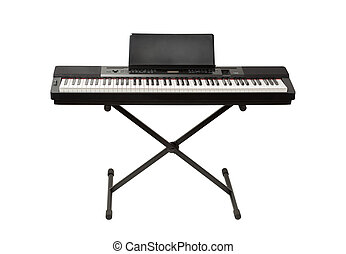 digital piano synthesizer isolated on white
