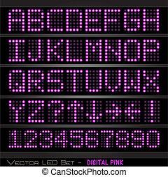 Digital Pink Set - Image of a colorful, pink digital set of...