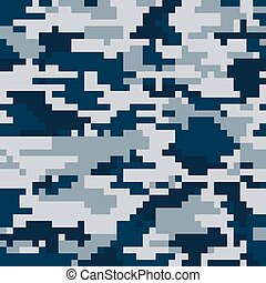 Digital pixel camouflage seamless pattern. Vector Texture in...