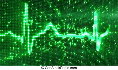 digital pixel EKG electrocardiogram