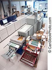 digital, prensa, impresión, máquina