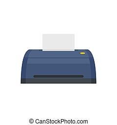 Digital printer icon, flat style