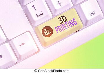 digital, printing., 3d, model., señal, actuación, texto, ...