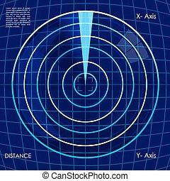 digital radar - illustration of abstract target board