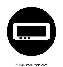digital radio clock icon