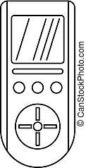 Digital remote control conditioner icon, outline style -...