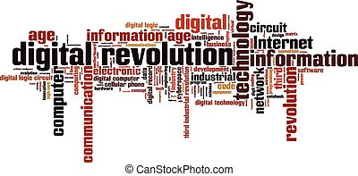 Digital revolution word cloud