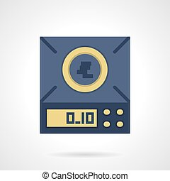 Digital scales flat color vector icon