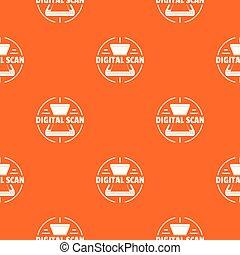 Digital scan pattern vector orange