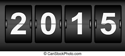 Digital scoreboard the new year