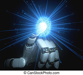 Digital Security Artificial Intelligence And Robotic Human Hand