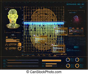 digital security, electronic fingerprint scanning