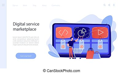 Digital service marketplace concept landing page. - Customer...