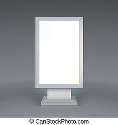 Digital Signage. Blank advertising billboard on gray...