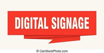 digital signage sign. digital signage paper origami speech...