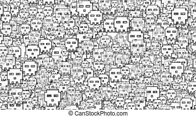 Digital Skulls Background Loop