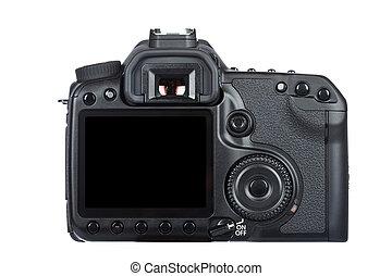 Digital slr camera - Rear view of digital slr camera ...