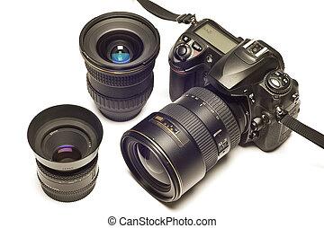 Digital SLR Camera With Lenses