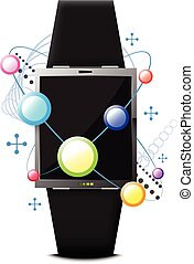 digital smart watch technology concept