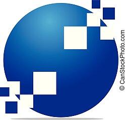 Digital Solutions Logo Design Template Vector