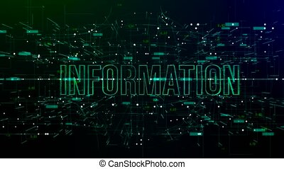 Digital space with 'Information' text