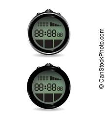 Digital stopwatch illustration