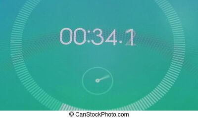 Digital stopwatch macro. Quick count the seconds, close up ...
