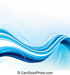 Digital Stream. Abstract technology background, vector layered.