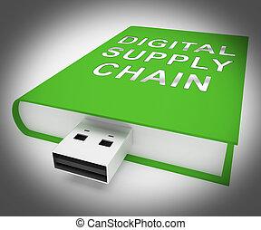 Digital Supply Chain Supplier Logistics 3d Rendering