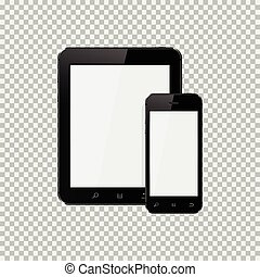 Digital tablet and mobile phone mockup