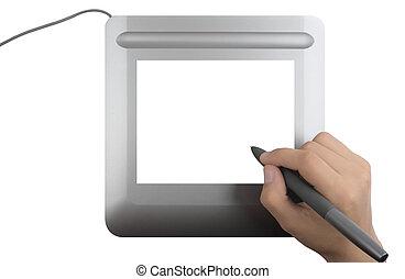 Digital tablet - Modern digital tablet with blank screen...