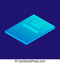 Digital tablet icon, isometric style