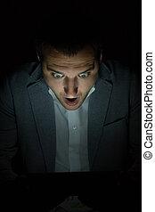 Digital tablet in the dark