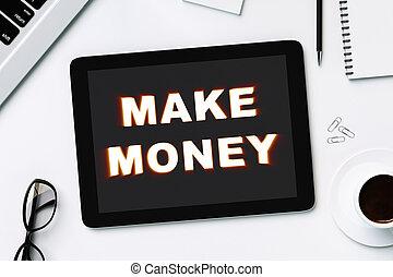 digital tablet with make money
