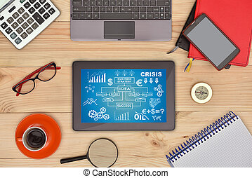 Digital tablet with start up concept
