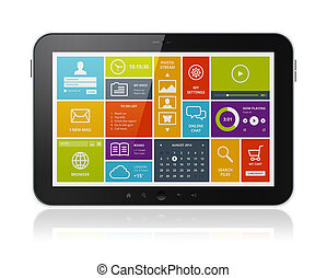 digital tablette, mit, modern, ui