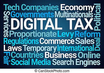 Digital Tax Word Cloud