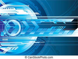 Digital Tech - Blue Futuristic technology background vector...