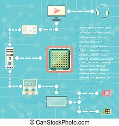digital technologies and social media web icons vector elements