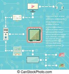 digital technologies and social media web icons vector elements