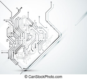 digital technologies - White Abstract background of digital...