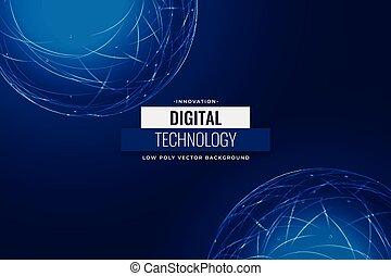 digital technology blue network background design