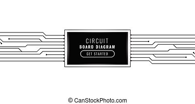 digital technology circuit lines background design