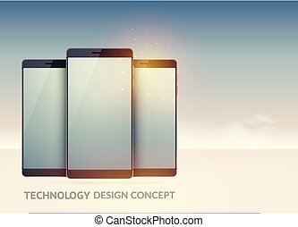 Digital Technology Devices Concept