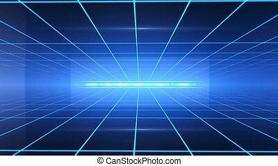 Digital Technology Lines - Background Grid