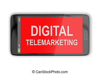 digital, telemarketing, conceito