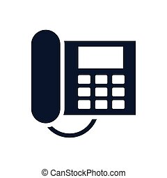digital telephone communication device isolated icon