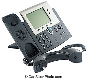 Digital telephone set, off-hook