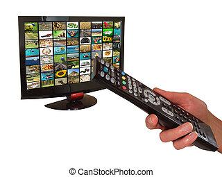 digital television - Digital television and remote control...