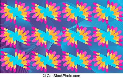 digital textile design of art on abstract background